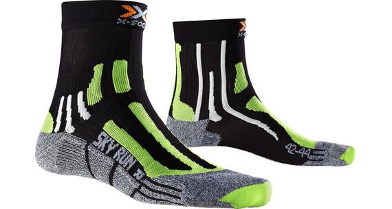 X-Socks M's Sky Run 2.0 Socks Black/Green Lime/Mouline Grey